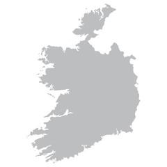grey map of Ireland