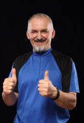 Man with smile in sport 40 - 50 year