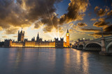 Fototapeta Beautiful view of Westminster by night