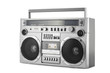 Retro ghetto blaster isolated on white with clipping path - 77713190