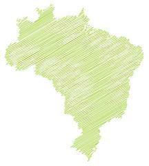 Landkarte *** scribbled Brasilien