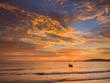 Leinwanddruck Bild - Sunset on the beach of Ao Nang