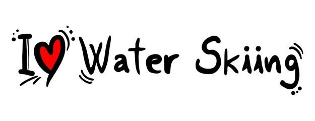Waterskiing love