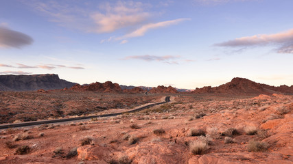 Road through fire valley