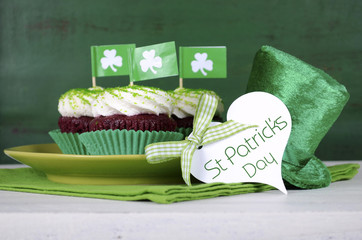 Happy St Patricks Day green theme cupcakes