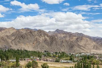 Leh city in Ladakh, India