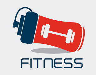 Fitness design, vector illustration.