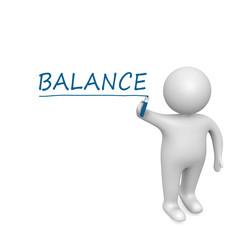Balance  drawn by a white man