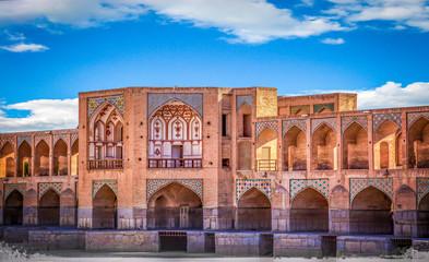 Khajoo bridge in Isfahan, Iran.