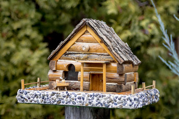 Small log cabin for birds