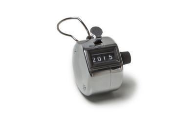 Tally click counter showing 2015