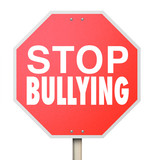 Stop Bullying Mean Kids Picking On Fighting Children School poster
