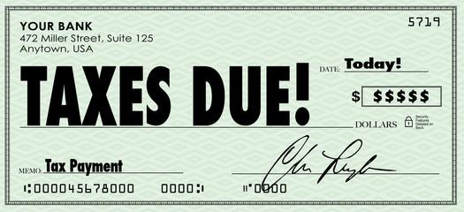 Taxes Due Check Money Send Payment Income Revenue