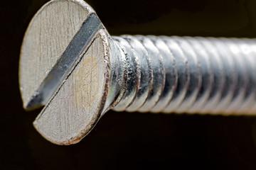 Macro of a screw head