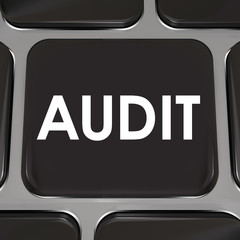 Audit Keyboard Computer Key Tax Accounting Review Bookkeeping