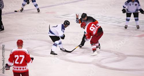 Tuinposter Wintersporten Eishockey Spiel