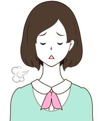 女性 ため息