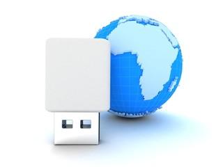 USB  Earth globe
