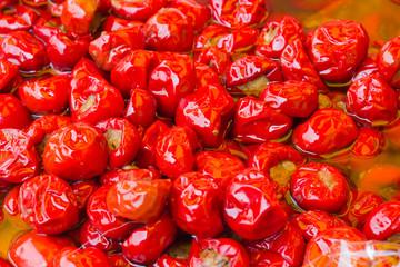 Dried tomatoes stuffed