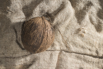 Coconut on burlap