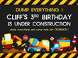 construction birthday card - 77728170