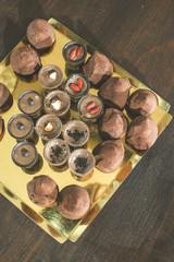 Chocolates on a tray