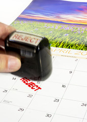 April 15 tax day and reject stamp