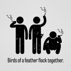 Birds of a Feather Flock Together Proverb