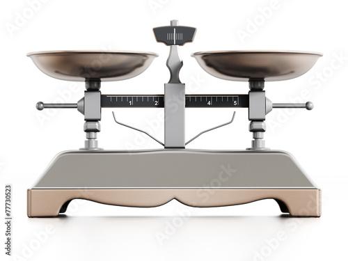 Leinwandbild Motiv Weight Scale