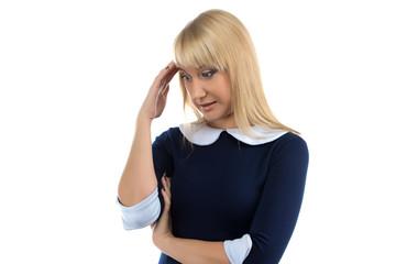Image of thinking woman