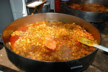 Large Paella Cooking © Arena Photo UK