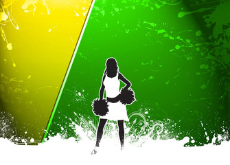 Cheerleader background