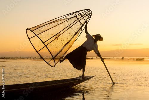 Poster Birmania fishermen