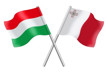Flags: Hungary and Malta