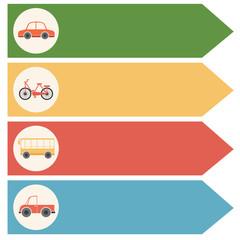 Different transportations