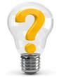Glühbirne Fragezeichen
