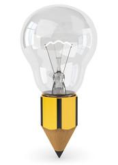Bleistift Glühbirne