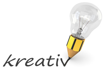 Glühbirne kreativ