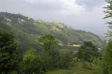 Terraces and buildings near Nagarkot