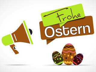 mégaphone : frohe ostern