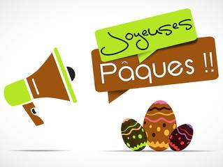 mégaphone : joyeuse pâques !!
