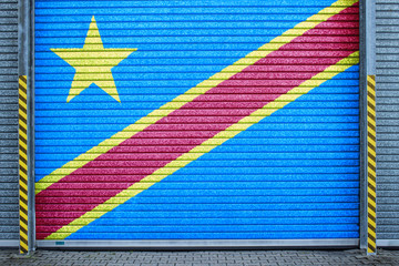 Kongo verzinktes Stahltor (Congo roll-up door)