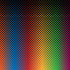 Halftone Abstract Background Rainbow and Black Color Vector