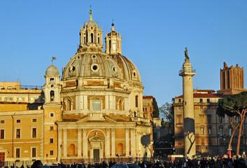 Tramonto romano - Colonna Traiana e Santa Maria di Loreto