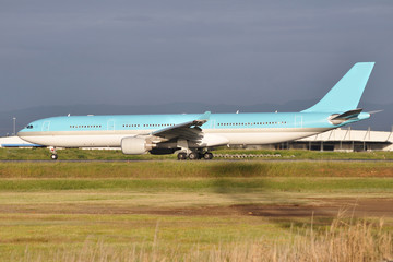 Light Blue Passenger Plane