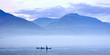 Leinwandbild Motiv Schwertwale in Landschaft, Killerwal bzw Orca, Orcinus orca