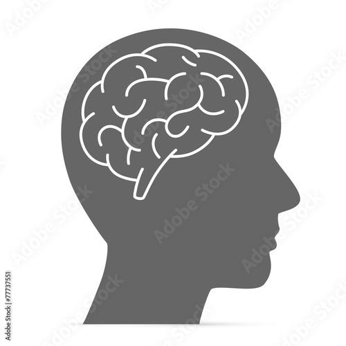 Zdjęcia na płótnie, fototapety, obrazy : Silhouette head with the brain