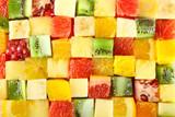 Fototapety Sliced fruits background
