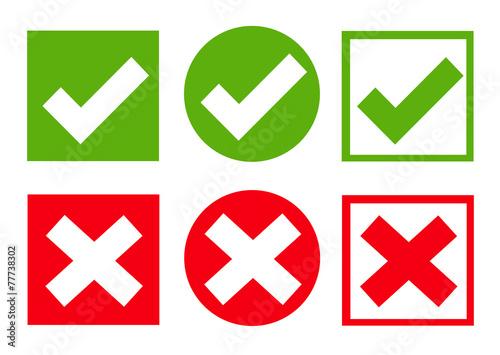 Zdjęcia na płótnie, fototapety, obrazy : Check mark stickers