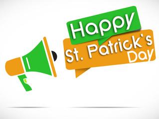 megaphone : happy saint patrick's day v2
